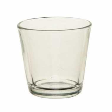 10x waxinelichthouders/waxinelichthouders transparant 7 cm