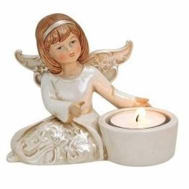 Engelen waxinelicht houder engel type 1 12 cm