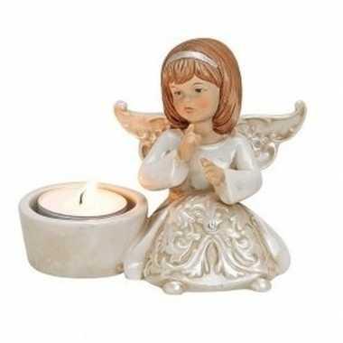 Engelen waxinelicht houder engel type 2 12 cm