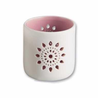 Waxinelichthouder cyprus roze 7,5 cm