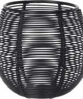 4x waxinelichthouder waxinelichthouder zwart metaaldraad 10 cm