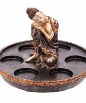 Thaise boeddha waxinelichthouder 6 x